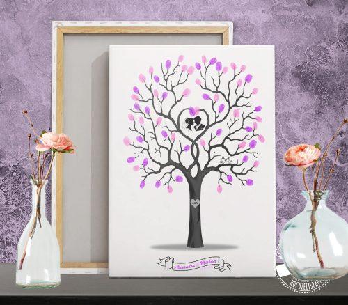 Hochzeitsbaum auf Leinwand