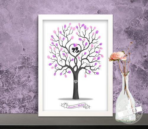 Weddingtree mit Fingerabdrücken