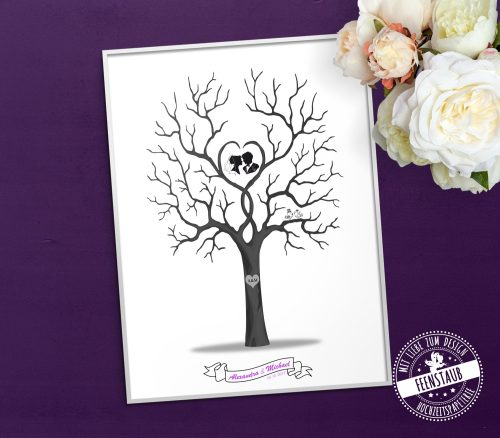 Weddingtree schwarz weiß