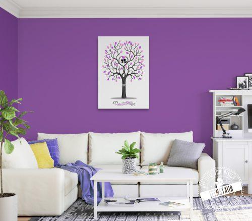 Hochzeitsbaum in Wohnung