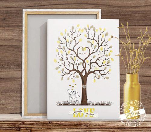 Leinwand Hochzeitsbaum
