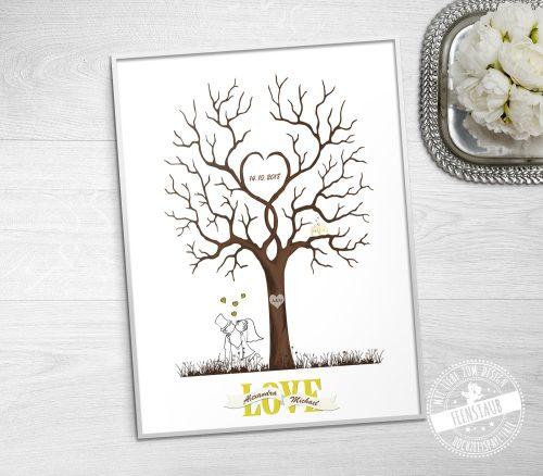 Fingerabdruckbaum Love