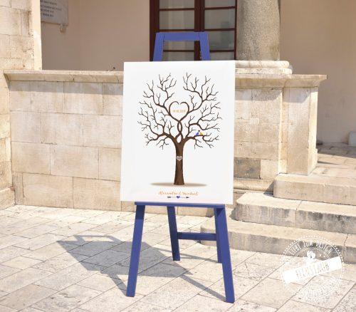 Hochzeitsbaum auf Staffelei