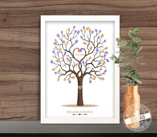 Fingerabdruckbaum in Rahmen