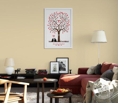 Weddingtree im Wohnzimmer