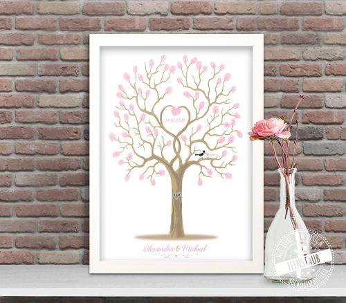 Hochzeitsbaum gerahmt