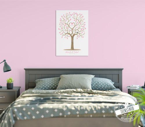 Weddingtree im Schlafzimmer