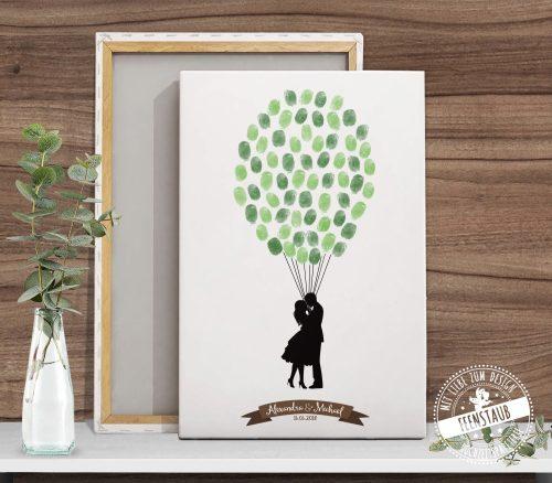 Fingerabdruckbaum auf leinwand mit Paar