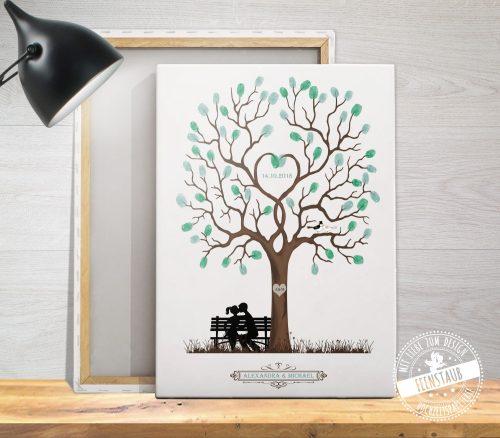 Fingerabdruckbaum auf Leiwnand