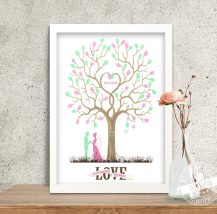 Weddingtree mit Brautpaar