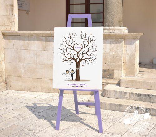 Hochzeitsbaum in Lila