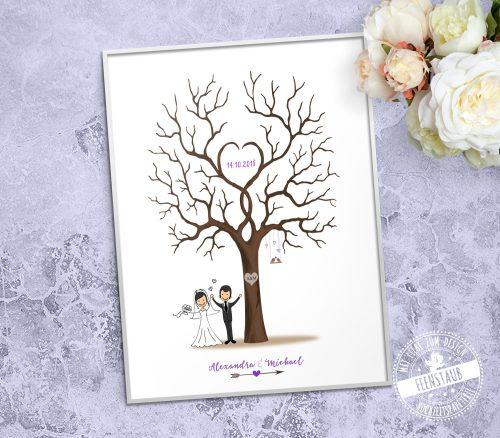 Weddingtree gedruckt