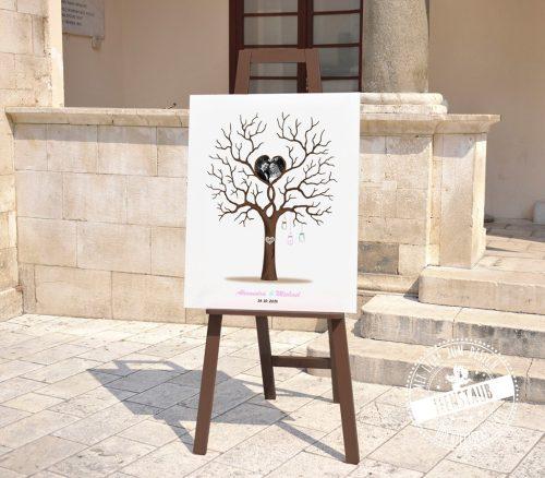 Weddingtree auf Staffelei mit Foto