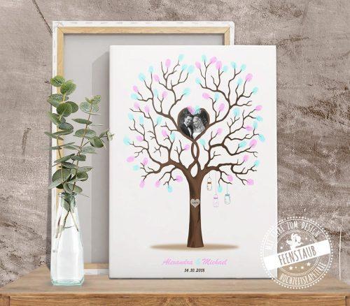Weddingtree mit Foto auf Leinwand
