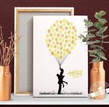 Hochzeitsbaum mit Liebespaar