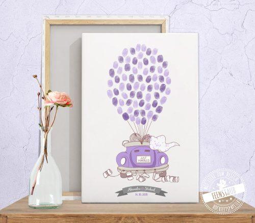 Fingerabdruckprint mit Auto Cabrio