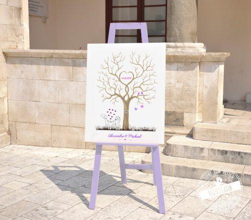 Hochzeitsbaum für Gäste während Fotoshooting