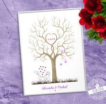 Hochzeitsbaum gedruckt