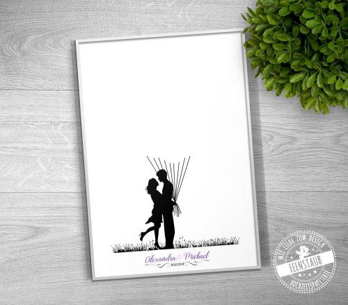 Weddingtree auf Papier oder Leinwand