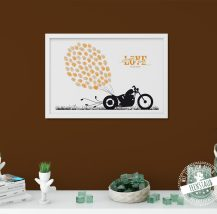 Motorrad als Weddingtree