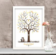 Hochzeitsbaum mit Katzen