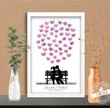 Weddingtree mit fliegenden Herzen