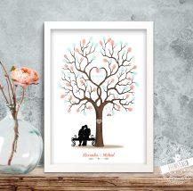Weddingtree Baum für Fingerabdrücke