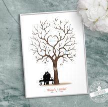 Hochzeitsbaum für Fingerabdrücke