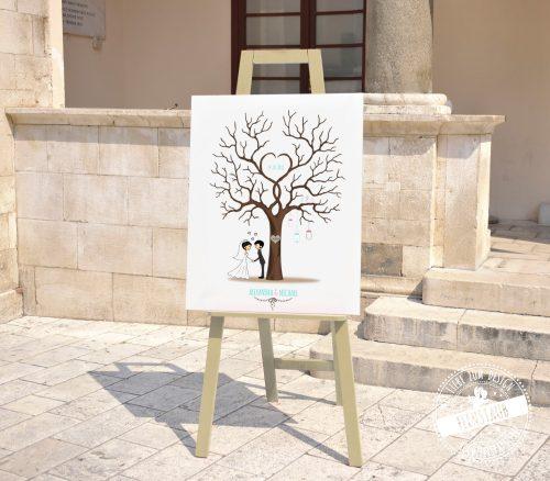 Comicpärchen Hochzeitsbaum