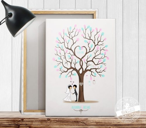 Weddingtree auf Leinwand