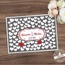 Hochzeitsbild mit Herzen