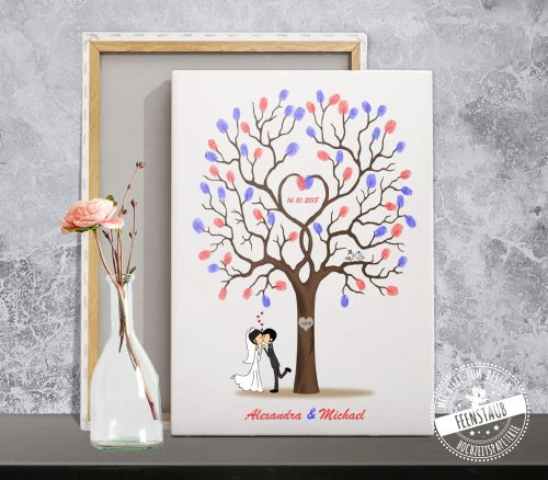 Fingerabdruckbaum auf Leinwand