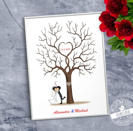 Comicpärchen Weddingtree