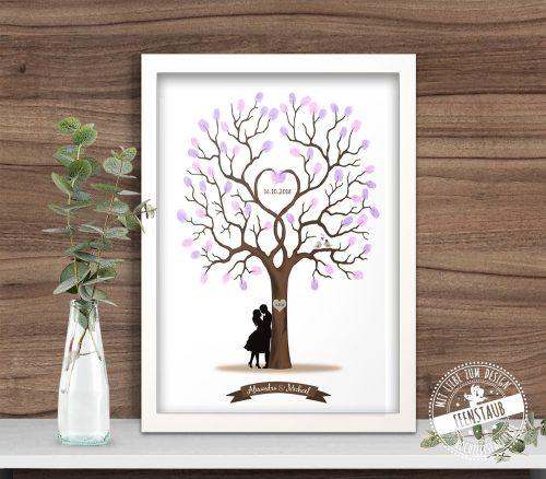 Hochzeitsbaum in Bilderrahmen