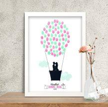 Heißluftballon als Hochzeitsbaum
