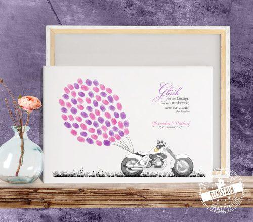 Biker Brautpaar Hochzeitsbaum