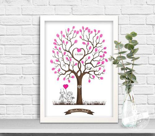 Hochzeitsbaum mit Fingerabdrücken