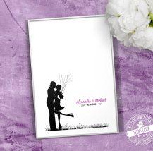 Hochzeitsbaum für Fingerabdrücke der Gäste