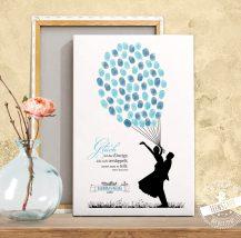 Fingerabdruckbaum für Hochzeitsgäste