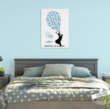 Fingerabdruckbaum im Schlafzimmer