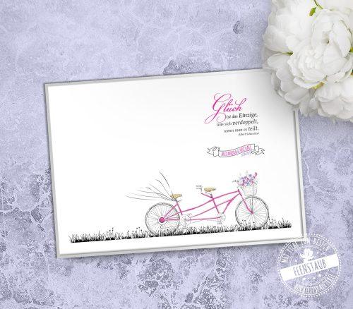 Tandem Fahrrad als Weddingtree