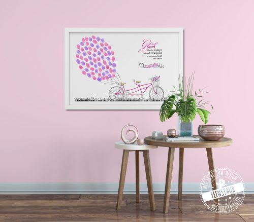 rosa Tandem als Gästebaum