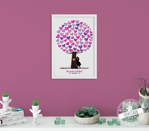 Hochzeitsbaum mit Herzen