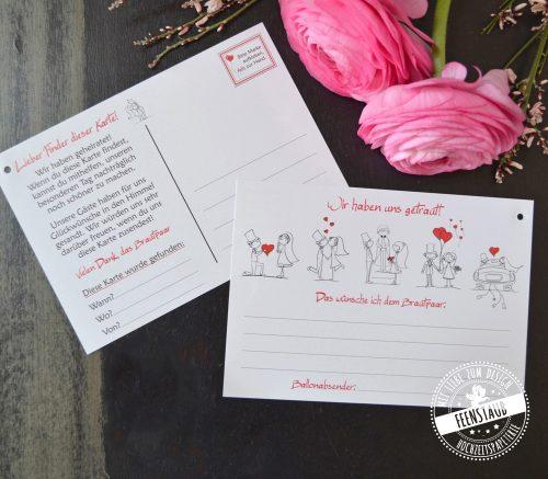 Luftballonkarten für die Hochzeit mit Gutscheinen