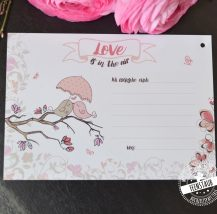 Ballonkarten mit Lovebirds für die Hochzeit