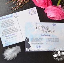 Luftballlone steigen lassen zur Hochzeit Karten mit Gutscheinen