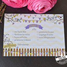 Ballonkarten für Sommerhochzeit Gartenparty