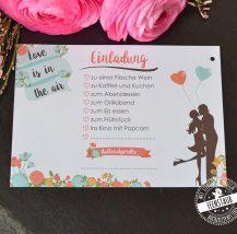 Ballonkarten für die Hochzeit zum Ausfüllen