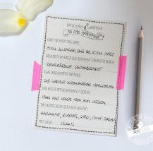 Gästebuchkarten mit Fragen für die Hochzeit