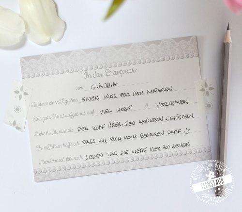 Gästekarten für die Hochzeit